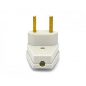 Plug Pad 90º 2P 10A/250V Cinza - 08314530