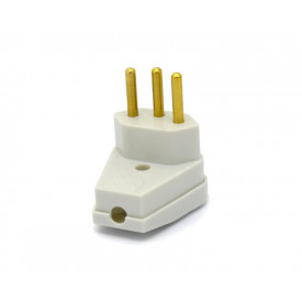 Plug Pad Macho 2P+T 90° Cinza 10A/250V - 08314810 - FAME