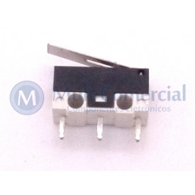 Chave Micro Switch MSW-22 1A 125/250VAC com Alavanca de 12mm - Jietong