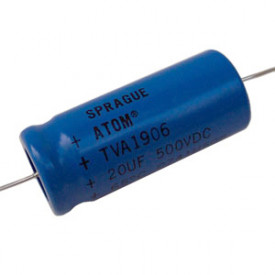 Capacitor Eletrolítico Axial 20uf/500V - Sprague