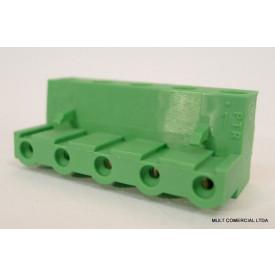 Conector Verde Multipolar AKZ960.03 Fêmea de 3 vias - Passo 7,62mm - Phoenix Mecano
