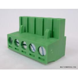Conector Verde Multipolar AKZ950.03 Fêmea de 3 vias - Passo 5,08mm - Phoenix Mecano