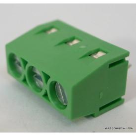Conector Verde Multipolar AKZ250.03 Fixo de 3 vias - Passo 5,08mm - Phoenix Mecano