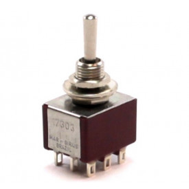 Interruptor de Alavanca Metálica Tripolar Solda Fio 5A 17.303 LIGA/DESLIGA/LIGA - Margirius