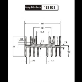 Dissipador de Calor 183002/40 - Eletro Service