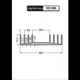 Dissipador de Calor 183004/80 - Eletro Service