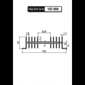 Dissipador de Calor 183006/160 - Eletro Service