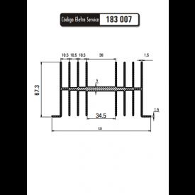 Dissipador de Calor 183007/80 - Eletro Service
