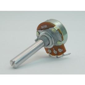 Potenciômetro 24mm Linear B100K Ω eixo metálico com 35mm - 24N1