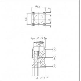 Conector SMA Fêmea Reto PCI Distância Centro Pino 5,10mm - 3011 - Gav 58 - KLC