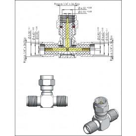 Adaptador SMA (T) 1 Macho X 2 Fêmeas - 3161 - Gav 68