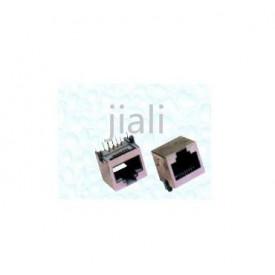 Conector Jack RJ45 Fêmea com 8 vias Blindado 90º PCI - JL46057