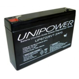 Bateria Chumbo-Ácida Regulada por Válvula (VRLA) UP672 (6V 7.2Ah)