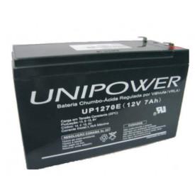 Bateria Chumbo-Ácida Regulada por Válvula (VRLA) UP1270E (12V 7Ah)
