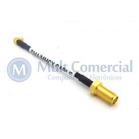 Cabo Pigtail MMCX para SMA com 8.5 cm
