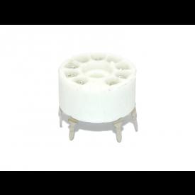Soquete para Válvula de 9 Pinos (Noval) Cerâmico (Solda em placa - PCI) - 9PINPCF