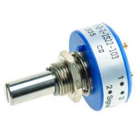 Potenciômetro de precisão 1KΩ No Stop 357-0-0-1S22-102 - Vishay/Spectrol
