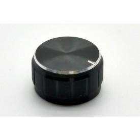 Knob de alumínio para potênciometro de eixo estriado - A21x13 - Preto