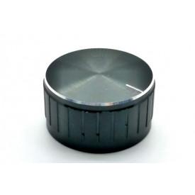 Knob de alumínio para potênciometro de eixo estriado - A32x17 - Preto