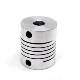 Acoplador Flexível para eixo de motor - furo 5mm - GC-18