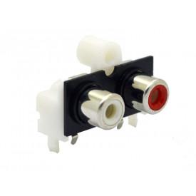 Jack RCA duplo PCI 90º para fixação AV2-8,4-10
