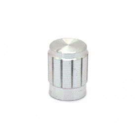 Knob de alumínio para potenciômetro de eixo estriado - B13x17 - Cromado