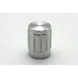 Knob de alumínio para potênciometro de eixo estriado - B13x17 - Cromado