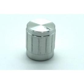 Knob de alumínio para potênciometro de eixo estriado - B15x17 - Cromado