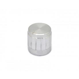 Knob de alumínio para potenciômetro de eixo estriado - B17x17 - Cromado