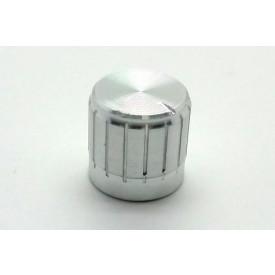 Knob de alumínio para potênciometro de eixo estriado - B17x17 - Cromado