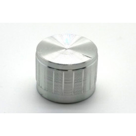 Knob de alumínio para potênciometro de eixo estriado - B23x17 - Cromado