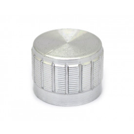 Knob de alumínio para potenciômetro de eixo estriado - B23x17 - Cromado