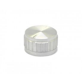 Knob de alumínio para potenciômetro de eixo estriado - B30x17 - Cromado