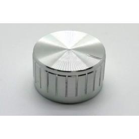 Knob de alumínio para potênciometro de eixo estriado - B30x17 - Cromado