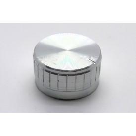 Knob de alumínio para potênciometro de eixo estriado - B32x17 - Cromado