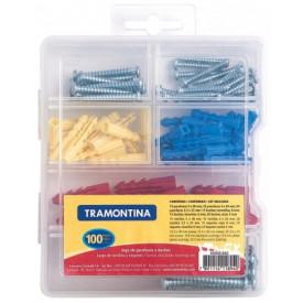 Jogo de Buchas e Parafusos com caixa plástica para armazedescricaonto 43505/002 - Tramontina