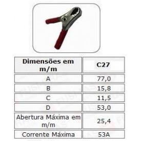 Garra Jacaré Colorido C27 - FUSI - BRÁS