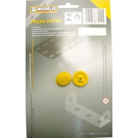 Engrenagem Cônica para transmissão de movimento em 90º. - Modelix - Embalagem com 2 Peças