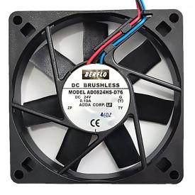 Microventilador Cooler AD0824HS-D76 24VDC 3200 RPM 0.10A (80x80x15mm) Bucha - BERFLO