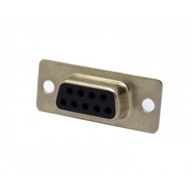 Conector DB09 Fêmea Solda Fio DS1033-09FBNSISS - Connfly