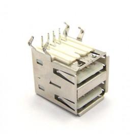 Conector USB A Fêmea Duplo 90º PCI - DS1096