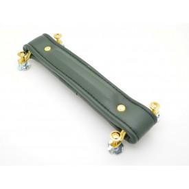 Alça para Amplificador Sintética Verde 20cm com Cavalete Dourado