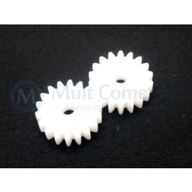 Engrenagem 18 Dentes com Furo de 4mm - Embalagem com 2 unidades