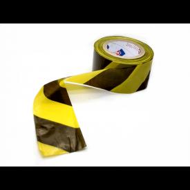 Fita Isolamento Zebrada Amarela e Preta 7cm x 200m  - SafetyTec