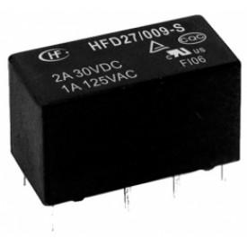 Relé para uso geral 24Vdc 2A DPDT 2 contatos reversíveis HFD27/024-S