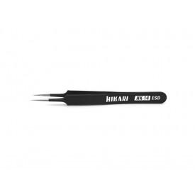 Pinça de Ponta Reta de Aço Inox HK-14 ESD - Hikari