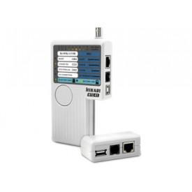 Testador de cabos RJ45, RJ11, BNC e USB HTC-41