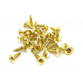 Kit de Parafusos Dourados para Cantoneiras 28 peças Philips Chipboard Flangeada 3.5x12mm