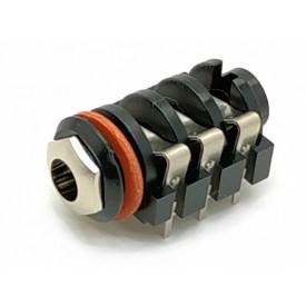 Jack J10 6.5mm Estéreo para solda PCI  - BPJ-BBB-P Belton