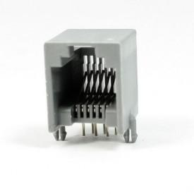 Conector JACK RJ12 6P6C 6 Vias na cor Cinza - YH55-04